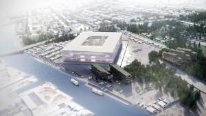 Projet lauréat pour le stade de Kaliningrad, Russie. Wilmotte & associés, architec